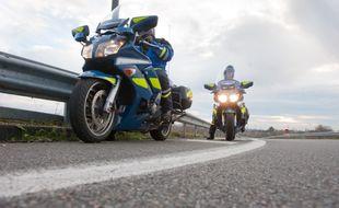 Des motards de la gendarmerie, en Nouvelle Aquitaine. (Illustration).