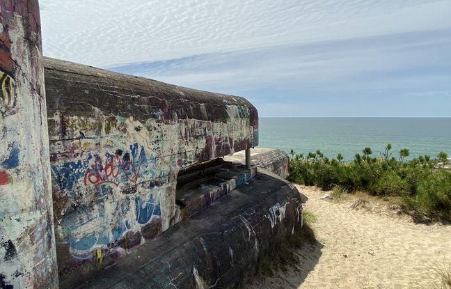 Les bunkers de Soulac-sur-Mer dominent l'ocan atlantique