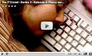 Capture d'écran d'une vidéo parodique sur le téléchargement illégal