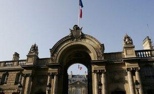 Paris, le 11 avril 2007. Photo de l'entrée du palais de l'Elysée.