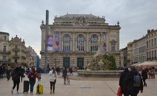 La place de la Comédie à Montpellier.