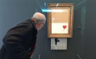 «Love is in the bin» de Banksy. Le 6 février 2019 à Baden-Baden