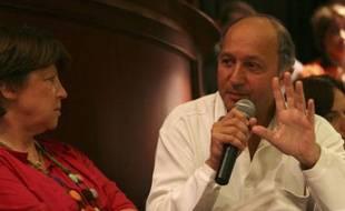 Martine Aubry et Laurent Fabius, à La Rochelle le 30 août 2008 durant l'université d'été du Parti socialiste.