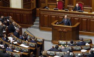 Les députés ukrainiens le 17 mars 2014 au Parlement à Kiev