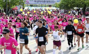 Coureurs du marathon de Séoul lors de édition 2018.
