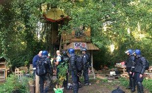 Plus de 500 gendarmes mobiles ont été dépêchés ce lundi matin pour évacuer la ZAD de Kolbsheim (Bas-Rhin).