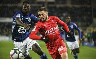 Football: Ibrahima Sissoko, milieu du Racing club de Strasbourg.