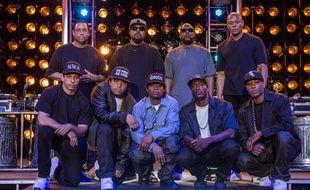 Une partie du casting de «Straight Outta Compton».