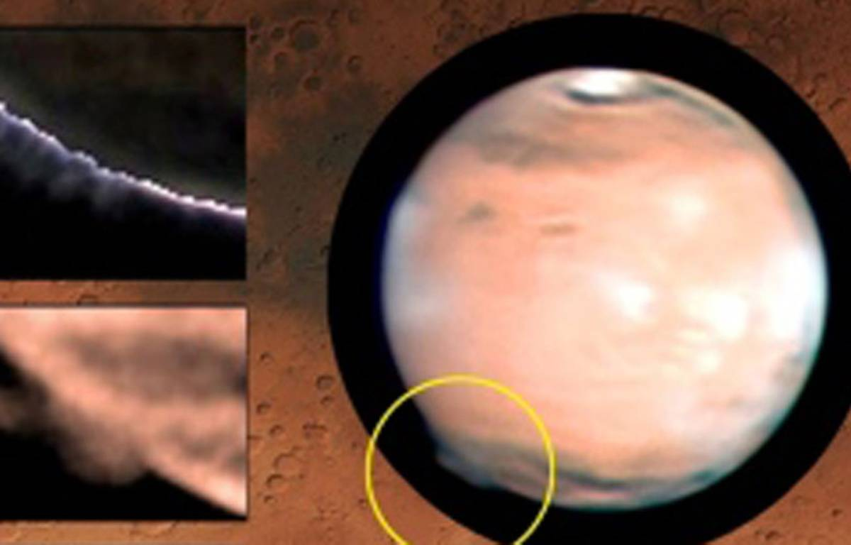 Formation nuageuse observée sur Mars en 2012. – Grupo de Ciencias Planetarias-UPV/EHU