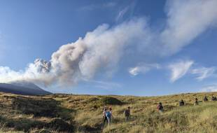 Eruption de l'Etna (Sicile, Italie) en août 2021