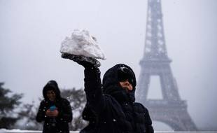 Paris sous la neige le 5 février 2018