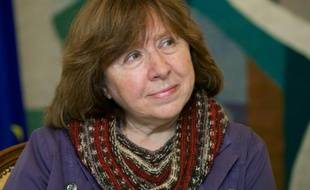 L'écrivaine biélorusse Svetlana Alexievitch à Minsk le 14 novembre 2014