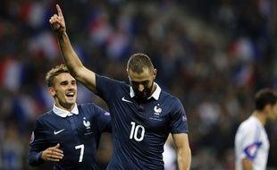Karim Benzema et Antoine Griezmann le 8 octobre 2015.