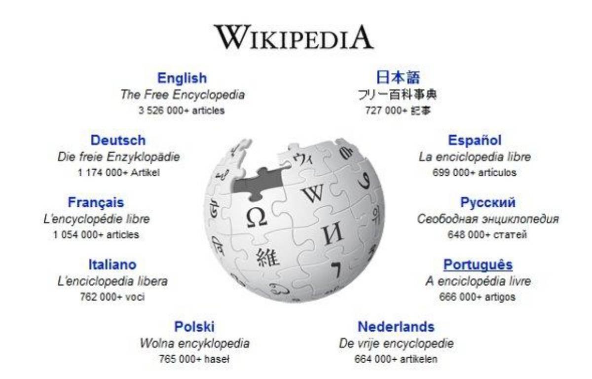 La page d'accueil de Wikipédia – DR