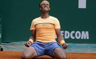 Rafael Nadal après sa victoire à Monte-Carlo le 17 avril 2016.