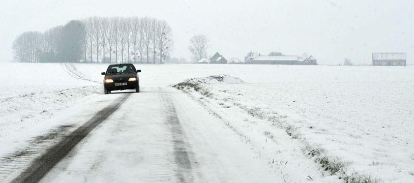 Neige en Normandie, décembre 2010.