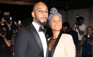 Le rappeur Swizz Beatz et la chanteuse Alicia Keys