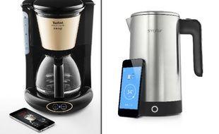 Avec Réveil Café et iKeetle, les marques Tefal et Smarter joue les pionnières du connectable autour de la table...
