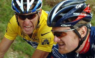 Lance Armstrong et Floyd Landis