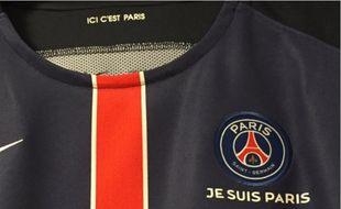 Capture d'écran du maillot du PSG « Je suis Paris »