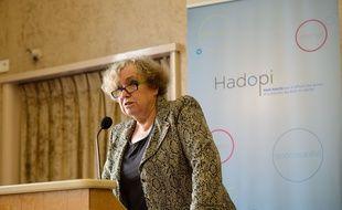 Marie-Françoise Marais, président de l'Hadopi, à Paris, en octobre 2013.