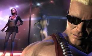 Duke Nukem dans un club de striptease