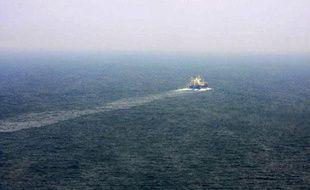 Un cargo en plein dégazage dans la Méditerranée (photo d'illustration)