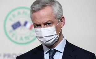 Bruno Le Maire, le 8 janvier 2021 à Paris.