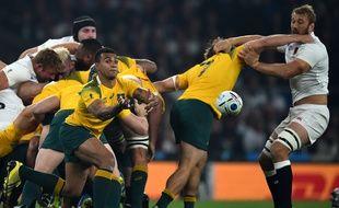 Match Angleterre - Australie, le 3 octobre 2015 à Twickenham, pendant la coupe du monde de rugby.