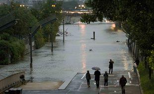 La Seine déborde à Paris. Juin 2016