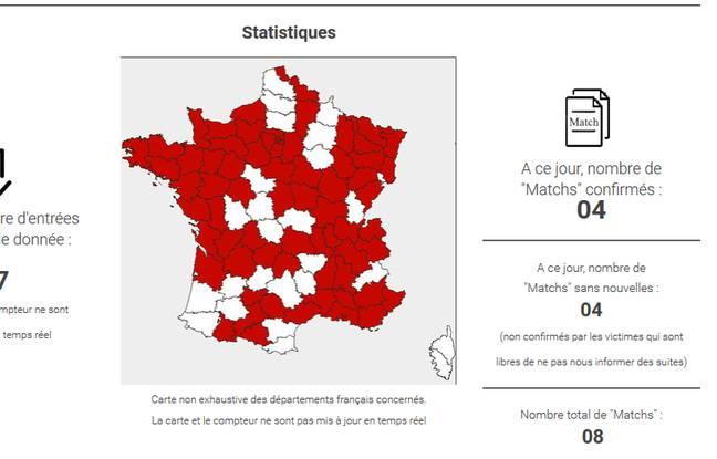 Les statistiques de Match, première plateforme de recherche de coabusés.