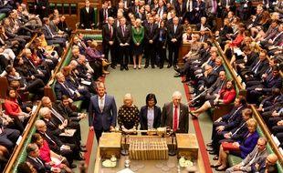Les députés ont voté au sein de la Chambre des communes, à Londres, le 28 octobre 2019.