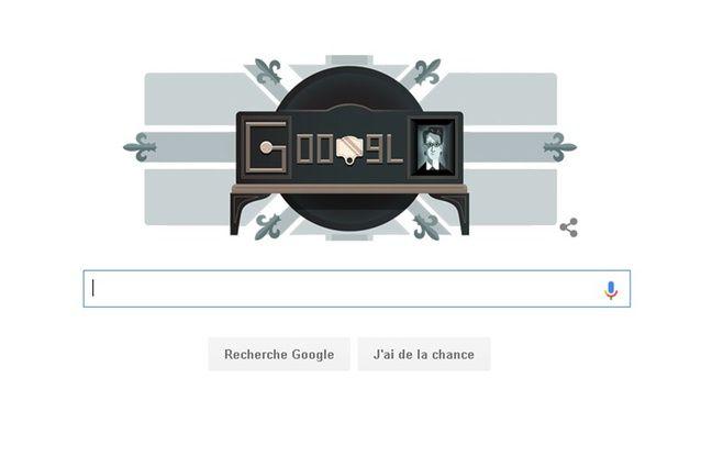 La page d'accueil de Google ce mardi