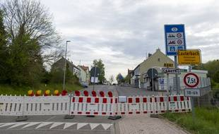 La frontière franco-allemande à Carling, en Moselle.