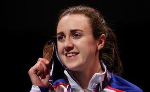 Laura Muir a remporté la médaille de bronze sur 3000m aux Mondiaux en salle de Birmingham, le 1er mars 2018.