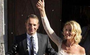 Mariage d'Alexandra Lamy et Jean Dujardin, le 25 juillet 2009.