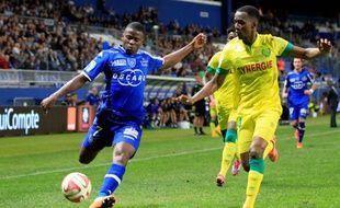 Le Nantais Chakher Alhadhur a manqué un penalty contre Bastia, ce mercredi soir.