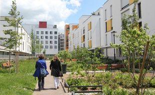 Illustration de programmes immobiliers récents, ici dans le secteur de Jacques-Cartier, à Rennes.