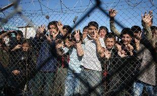 Un centre de rétention dans le village de Filakio à la frontière entre la Grèce et la Turquie, le 5 novembre 2010.
