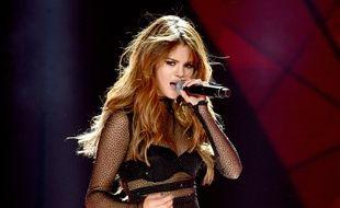 Selena Gomez en concert à Los Angeles le 8 juillet 2016.