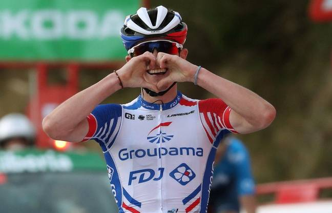David Gaudu lors de sa deuxième victoire d'étape sur la Vuelta en octobre.