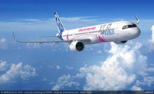 Le monocouloir A321 XLR permettra de parcourir de longues distances.