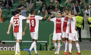 L'Ajax d'Amsterdam, lors d'un match de Ligue des champions à Lisbonne, le 15 septembre 2021 (illustration).
