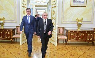 Bachar al-Assad et Vladimir Poutine le 21 octobre 2015 à Moscou.