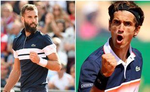 Benoît Paire et Pierre-Hugues Herbert, deux amis mais une seule place pour le troisième tour de Roland-Garros.