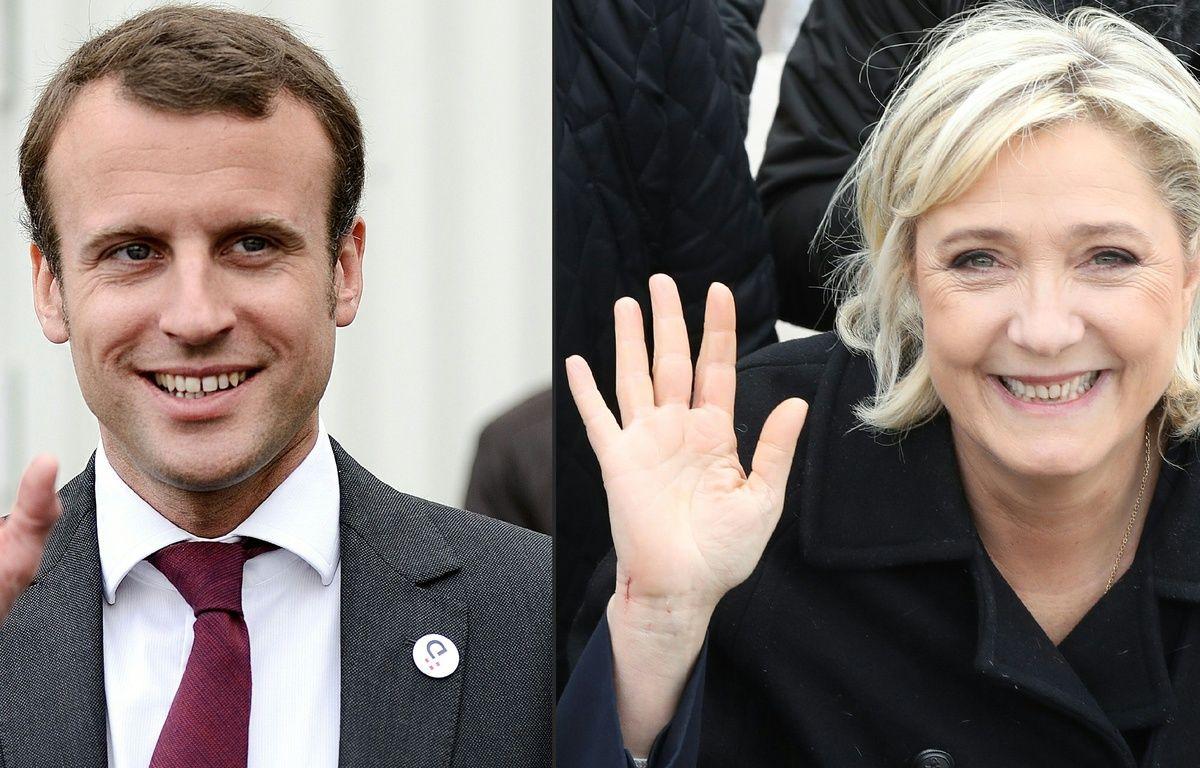 Emmanuel Macron et Marine Le Pen sont les deux candidats au second tour de l'élection présidentielle 2017. – JEAN-SEBASTIEN EVRARD;VALERY HACHE / AFP