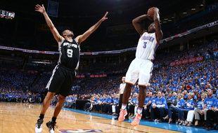 Tony Parker (San Antonio Spurs) contre Oklahoma, le 12 mai 2016.
