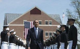 Le président américain Barack Obama le 20 mai 2015 à New London dans le Connecticut