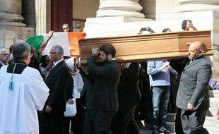 Enterrement de l'avocat Jacques Vergès à l'église Saint-Thomas-d'Acquin, le 20 août 2013 à Paris (7e).