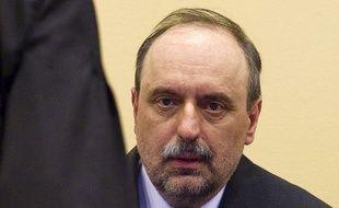 Goran Hadzic, ancien chef politique des Serbes de Croatie, en 2011 au Tribunal pénal pour l'ex-Yougoslavie.